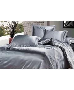 ผ้าปูที่นอน ความสูงฟูก 10 นิ้ว ผ้าซาตินแท้ 440 เส้น ขนาด 3.5 ฟุต สีเทาเงิน
