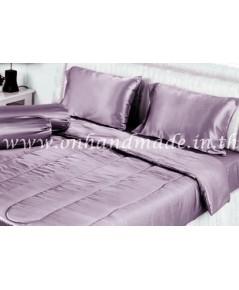 ผ้าปูที่นอน ผ้าซาตินแท้ 440 เส้น ขนาด 6 ฟุต เบอร์ 31 สีโอล์ดโรส (Old Rose)