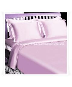 ผ้านวมคลุมเตียง ผ้าไหมซาตินญี่ปุ่น ขนาด 6 ฟุต (ขนาด 90 นิ้ว x 100 นิ้ว) สีชมพูพาสเทล