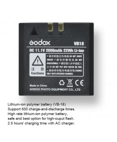 VB-18 Battery for V850 V860 II Kit Speedlight แบตเตอรี่แฟลช Godox