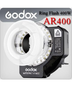 Godox WITSTRO AR400 kit 400W/S Portable Ring Flash and LED ring light