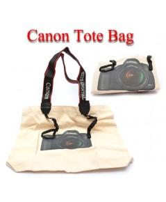 Canon T1 DSLR Camera Tote Bag Gift กระเป๋าใส่ของแคนนอน เป็นถุงผ้าจุของได้เยอะ