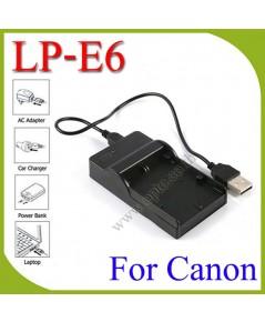 USB LP-E6 Battery Charger แท่นชาร์จสำหรับแบตเตอรี่Canon LP-E6 กล้องรุ่น 60D 70D 7D 6D 5D MKII III
