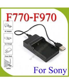 USB BC-V615 BatteryChargerแท่นชาร์จสำหรับแบตเตอรี่Sony F570 F770 F970ไฟLED YN300 YN600 YN900