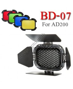 BD-07 Godox Barn Door with Honeycomb Grid and 4 Color Filters For AD200 บันดอและเจลสีสำหรับAD200
