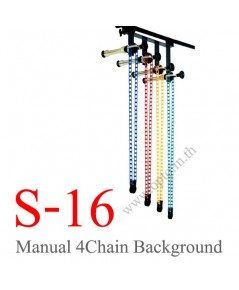 S-16 Manual 4Chain Background Stand Set Backdrop
