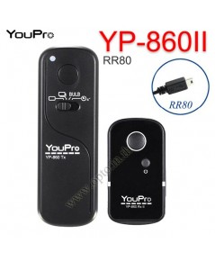 YP-860II YouPro RR-80 Wire/Wireless Remote 2.4GHz For Fuji E1 S1 HS20 HS25 HS30 S9600 รีโมทไร้สาย