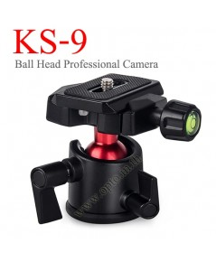 KS-9 Professional Camera Tripod Ballhead Ball Head