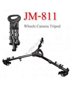 JM-811 flexible aluminum alloy 3 wheels camera tripod track dolly