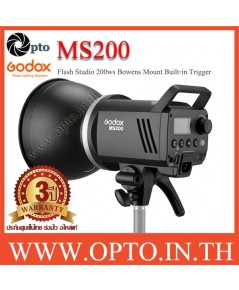 MS200 Godox Studio Strobe Flash Bowens Mount 200W Built in 2.4Ghz wireless X System แฟลชสตูดิโอ