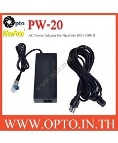 PW-20 NiceFoto AC Power Adapter for NiceFoto HB-1000B II HB-1000A LED Light