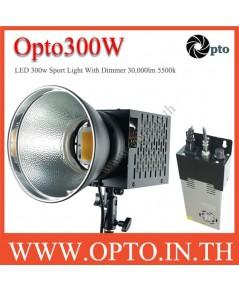 Opto300W LED With Dimmer 30000lm 5500k Sport Light equivalent 3000w ไฟLEDสปอร์ตไลท์