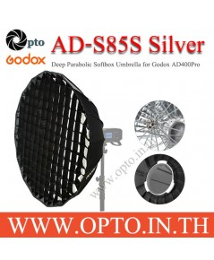 AD-S85s Godox Mount Silver Parabolic Deep Softbox For AD300Pro AD400Pro 85CM พาราโบลิกซอฟท์บ๊อกซ์