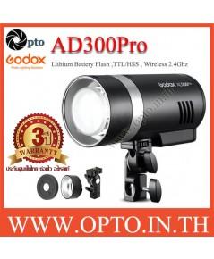 AD300Pro Godox HSS Sync Wireless Flash Portable+Battery TTL AD300 แฟลชพกพามีแบตเตอรี่