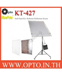 KT-427 NiceFoto Background Diffuser Screen Reflector AND Diffuser Panel KIT 140X200cm