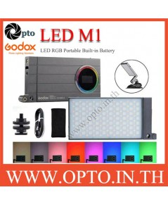 Godox M1 RGB LED Mini Portable Round LED Mini Creative Light ไฟต่อเนื่องแบบพกพา