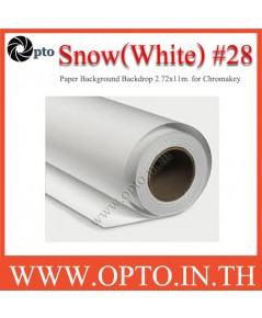 Snow Paper Background Backdrop 2.72x11m. for Chromakey ฉากกระดาษสีหิมะ Seamless Paper no.28