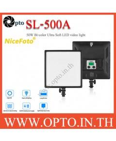 SL-500A NiceFoto 50W Bi-color Ultra Soft LED video light 3200K-6500K