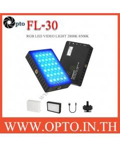FL-30 FLASHOOT  RGB LED VIDEO LIGHT 2800K-8500K ไฟต่อเนื่องแบบพกพา ถ่ายรูป ถ่ายวีดีโอ