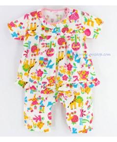 ชุดนอนเด็ก ไซส์เด็กจิ๋ว (6 M) แขนสั้น ขายาว ผ้ายืด (แบบระบายอก กระดุมผ่าหน้า) คลิกดูรายละเอียดเพิ่ม