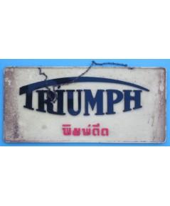 ป้าย TRIUMPH พิมพ์ดีด