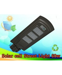 โคมไฟถนน โซล่าเซลล์ 60W (แสงสีขาว) Solar cell Street Light 60W ราคา 2,900.-