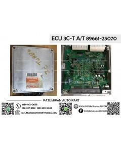 กล่องควบคุมเครื่อง ECU Toyota (โตโยต้า) เครื่อง 3C-T A/T เกียรออโต้ 89661-25070 ป้ายส้ม