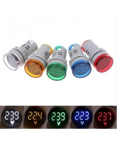 AC volt meter 22mm LED Digital Display Gauge