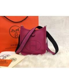 Mini Hermès Evelyne TPM Bag in Rose Tyrien