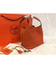 Hermes Picotin Lock Bag PM สีส้ม 18 CM