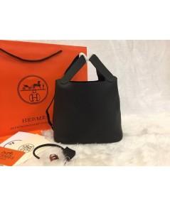 Hermes Picotin Lock Bag PM สีดำ 18 CM