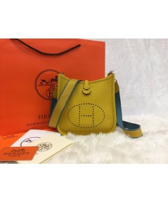 Mini Hermès Evelyne TPM Bag in Yellow