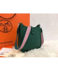 Mini Hermès Evelyne TPM Bag สีเขียว