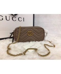 GG Marmont mini chain bag Dusty Pink Leather
