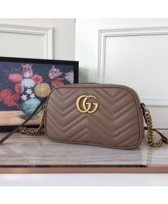 GG Marmont small matelassé shoulder bag in Dusty pink