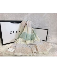 ผ้าพันคอ  Gucci GG Rainbow Shawl Mirror Image 1:1