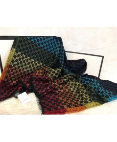 ผ้าพันคอ  Gucci GG Jacquard Shawl Mirror Image 1:1