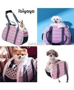 Ibiyaya กระเป๋าใส่สัตว์เลี้ยง Pink Chevron