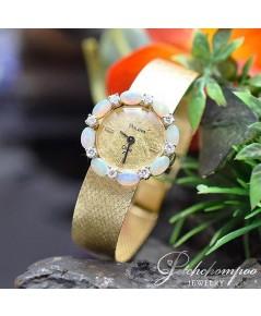 นาฬิกาทองคำล้อมเพชรและโอปอล์