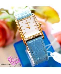 นาฬิกาทองคำ Gucci ฝังเพชร