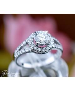 แหวนเพชร 0.72 กะรัต GIA H VVS2