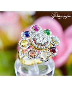 แหวนนพเก้า ประดับเพชร