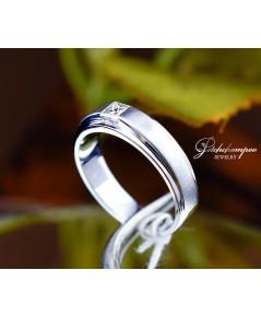 แหวนเพชร Princess Cut 0.28 กะรัต