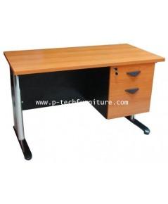 โต๊ะทำงานขาเหล็ก 2 ลิ้นชัก