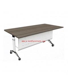 โต๊ะทำงานขาเหล็ก มีบังตา รุ่น HB-GTF02