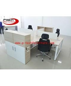 โต๊ะทำงานกลุ่มแบบ 4 ที่นั่ง
