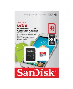 Micro SD 32GB. Sandisk Ultra (SDC10 Class 10) 80 MB/s