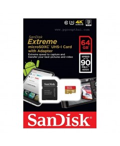 Micro SD 64GB. Sandisk Extreme (SDC10 Class 10) 90 MB/s
