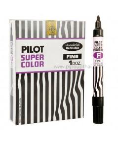 ปากกาเคมี ไพล็อต หัวกลม สีดำ (แพ็ค)