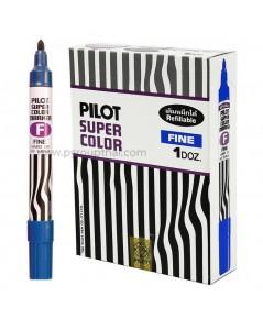 ปากกาเคมี ไพล็อต หัวกลม สีน้ำเงิน (แพ็ค)